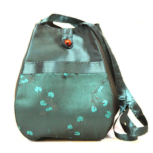 Plymouth Yarn Silk Floral Project Bag - Teal (001)
