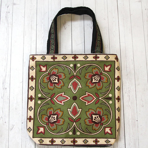 Plymouth Yarn Tapestry Bag - Olive Multi (001)