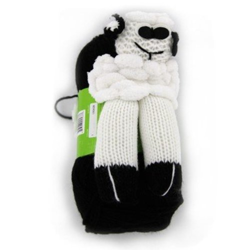 Plymouth Yarn Yarnimals Scarf Kit - Sheep - White-black Scarf (0001SHEEP)