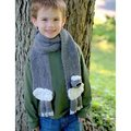 Plymouth Yarn Yarnimals Scarf Kit - Sheep - Gray-Gray Scarf (0002SHEEP)