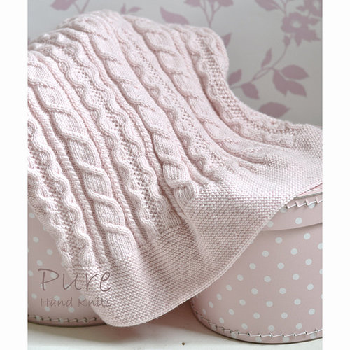 Pure Hand Knits Ellis Baby Blanket PDF -  ()