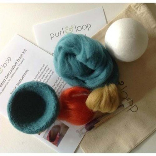 "Purl & Loop 4"" Needle-Felted Decorative Bowl Kit - Court Jester (COURTJESTE)"