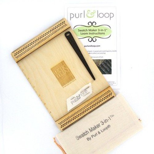Purl & Loop Swatch Maker 3-in-1 Loom, Engraved with WEBS Logo -  ()