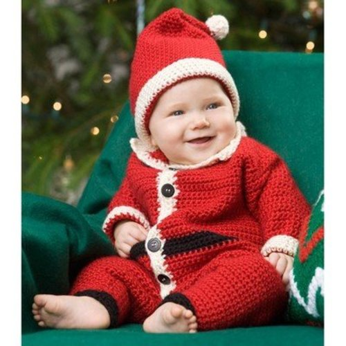 Red Heart Infant Santa Suit and Hat (Free) -  ()