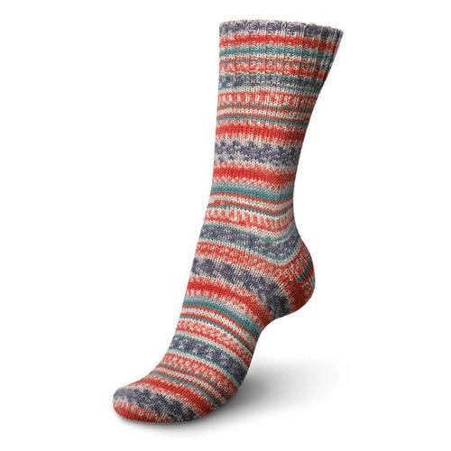 Regia 4-Ply Design Line by Arne & Carlos - Red Gray Teal (03760)