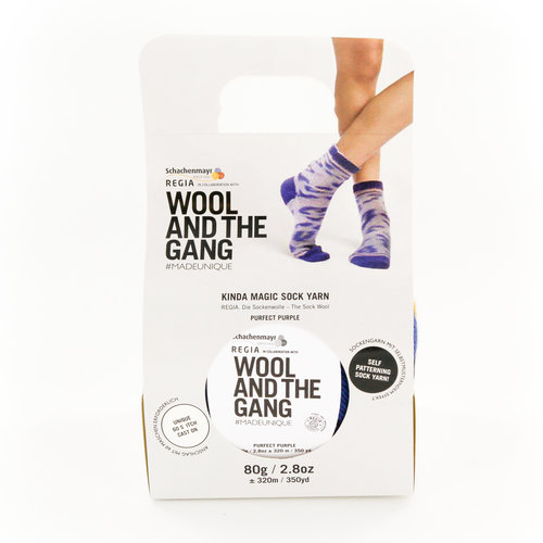 Regia Design Line Kinda Magic Sock by Wool And The Gang - Purrfect Purple (6457)