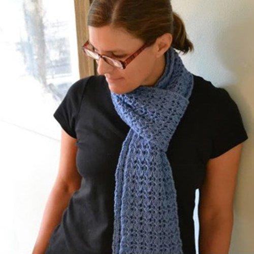 Reversible Rib and Lace Scarf (Free) -  ()