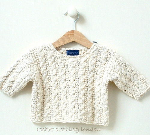 Rocket Clothing London Mini Cable Sweater 8 Months to 2 Years PDF -  ()