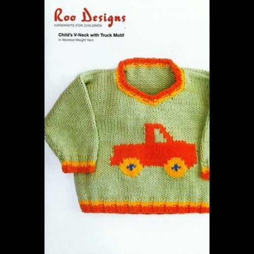 Roo Designs Child's V-Neck with Truck Motif -  ()