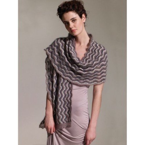 Rowan Beaded Kidsilk Haze Scarf PDF -  ()