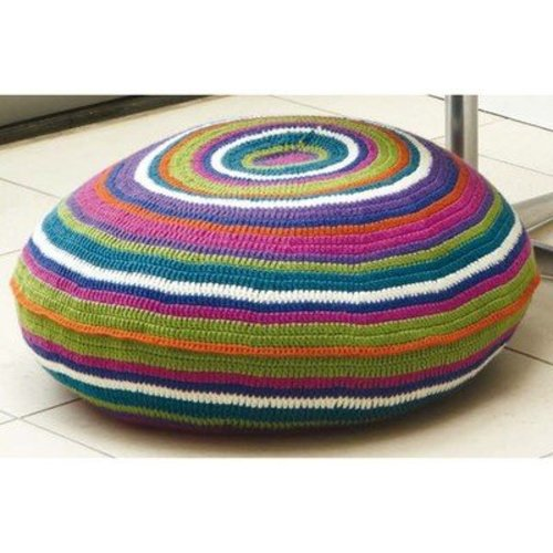 Rowan Bright Circle Stripe Floor Cushion (Free) -  ()