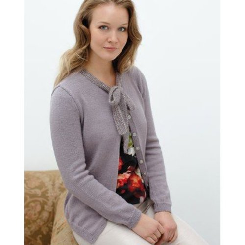 Rowan Cardigan With Neck Tie (Free) -  ()