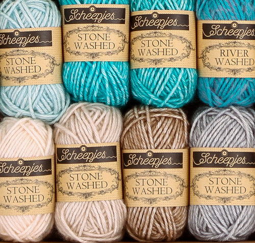 Scheepjes Stone Washed/River Washed Colour Pack - Assorted Colors (ASST)