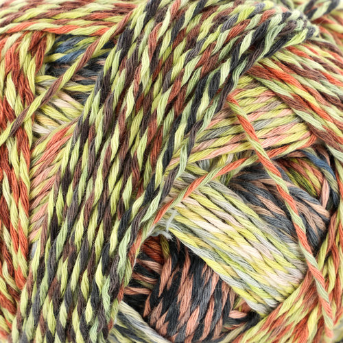 Schoppel Wolle Zauberball Crazy Cotton - Red/ Blue/ Yellow (2366)