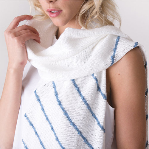 Shibui Knits Oasis Kit - White-Shore - Model (01)