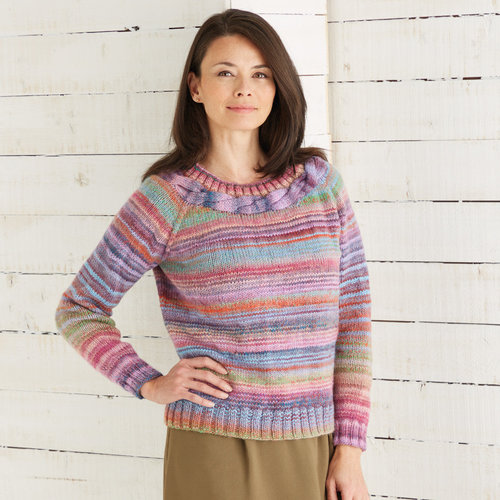 Sirdar 10028 Pullover in Jewelspun PDF -  ()