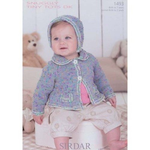 Sirdar 1493 Girl's Cardigan & Bonnet -  ()