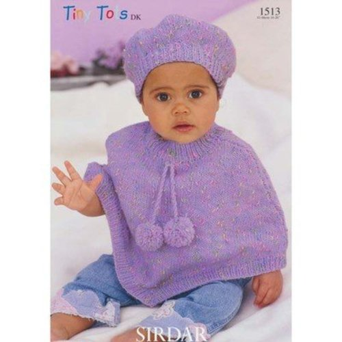 Sirdar 1513 Poncho and Beret -  ()