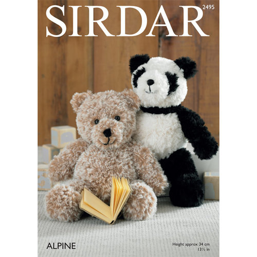 Sirdar 2495 Panda and Teddy Bear PDF -  ()