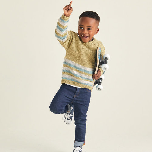 Sirdar 2527 Crew Neck Pullover Kit - 3-5 years (01)