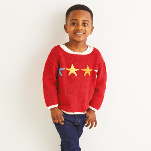 Sirdar 2556 Kids Star Sweater in Replay PDF -  ()