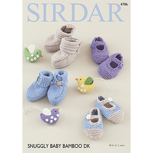 Sirdar 4786 Baby Booties & Shoes -  ()