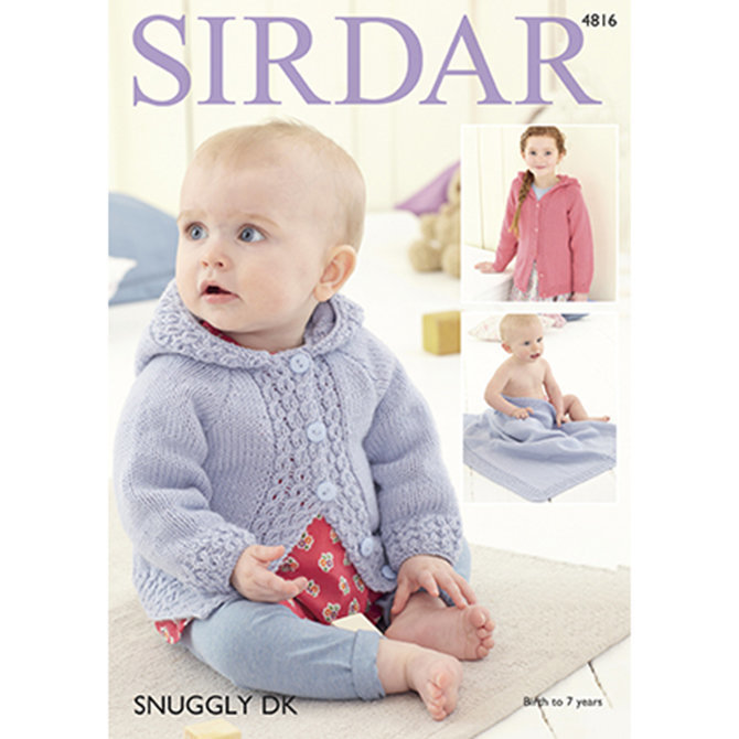 Sirdar 4816 Baby Girls And Girls Jacket Blanket At Webs Yarn