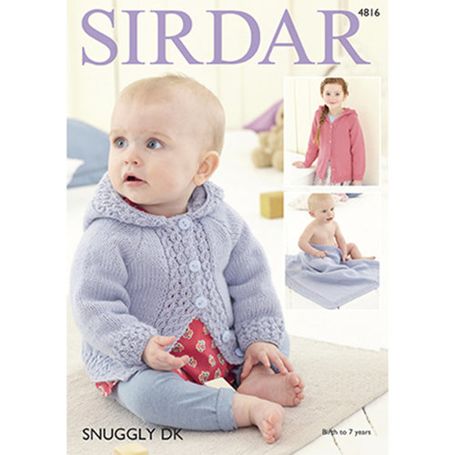 Sirdar 4816 Baby Girl's and Girl's Jacket & Blanket -  ()