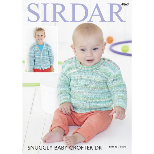 Sirdar 4869 Sweater and Cardigan PDF -  ()