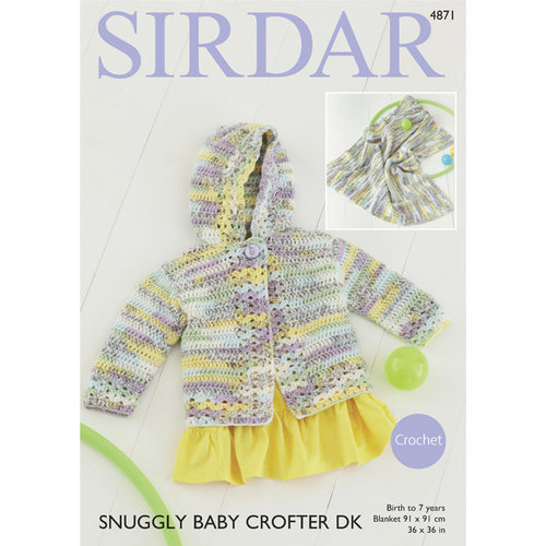 Sirdar 4871 Jacket and Blanket PDF -  ()