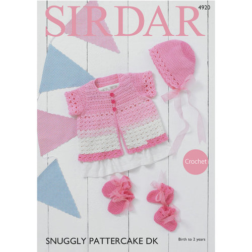 Sirdar 4920 Cardigan, Bonnet, Mittens and Bootees PDF -  ()