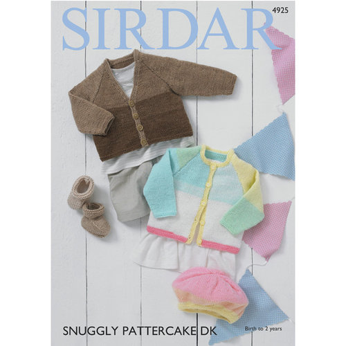Sirdar 4925 Baby Girl's and Boy's Cardigans, Bootees and Beret PDF -  ()