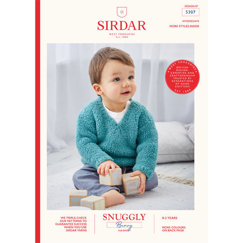 Sirdar 5307 V-Neck and Round Neck Pullover in Snuggly Bunny PDF -  ()