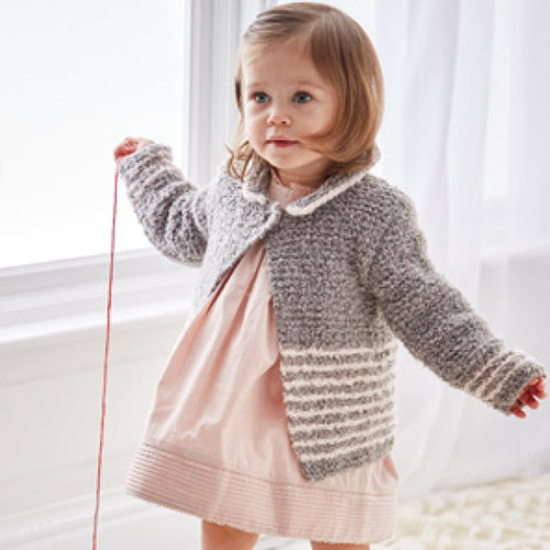 Sirdar 5311 Collared and Round Neck Cardigan in Snuggly Bouclette PDF -  ()