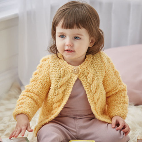 Sirdar 5313 Cable Cardigan With and Without Collar in Bouclette PDF -  ()