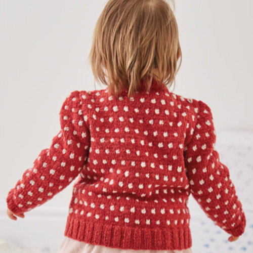 Sirdar 5323 Dotted V-Neck or Round Neck Cardigan in Snuggly Heirloom PDF -  ()