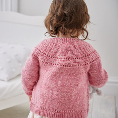 Sirdar 5326 Lace Yoked Cardigan in Snuggly Heirloom PDF -  ()