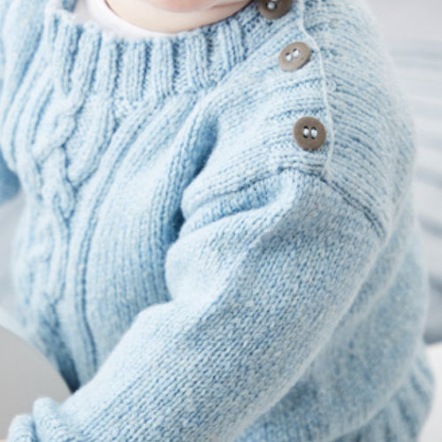 Sirdar 5327 Heirloom Pullover with Cable in Snuggly Heirloom PDF -  ()