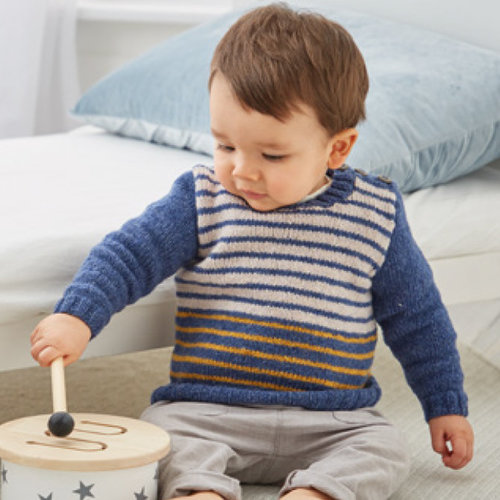 Sirdar 5329 Striped Pullover and Blanket in Snuggly Heirloom PDF -  ()