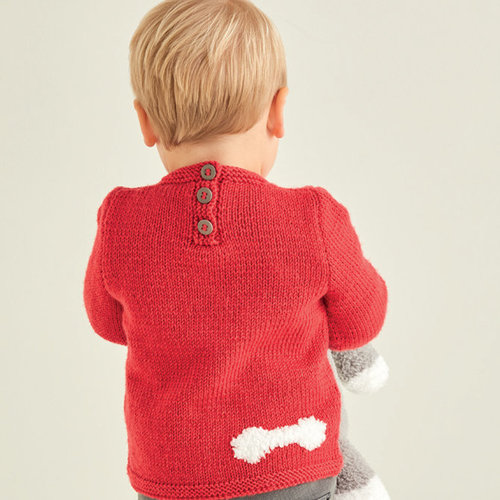 Sirdar 5371 Baby Sweater with Dog Motif PDF -  ()
