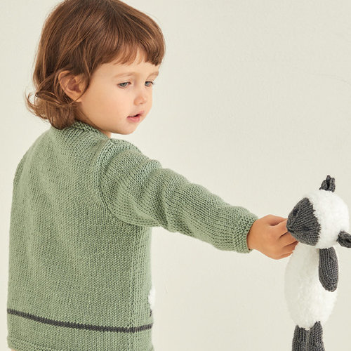 Sirdar 5373 Baby Cardigan with Sheep Motif PDF -  ()