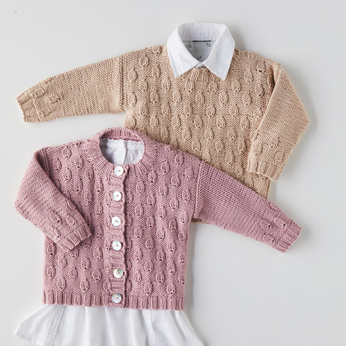 Sirdar 5379 Leaf Cardigan and Pullover PDF -  ()