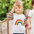 Sirdar S7082 Sweater with Rainbow Intarsia Kit - 3 years (01)