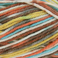 Sirdar Snuggly Baby Crofter Fair Isle Effect DK Discontinued Colors - Orange, Teal, Brown, Yellow (143)