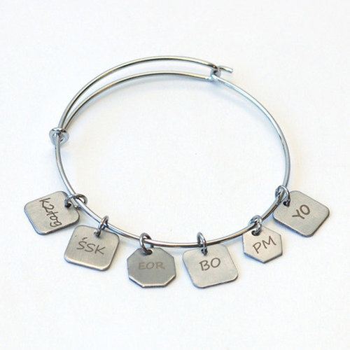 Skacel Stitch Marker Charm Bracelet - Medium/Large (ML)