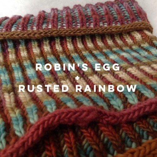 Spincycle Yarns Hawkshaw Cowl Kit - Rusted Rainbow/Robin's Egg (RUSTROBIN)