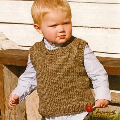 Spud & Chloe by Blue Sky Fibers 9207 Li'l Man Vest -  ()
