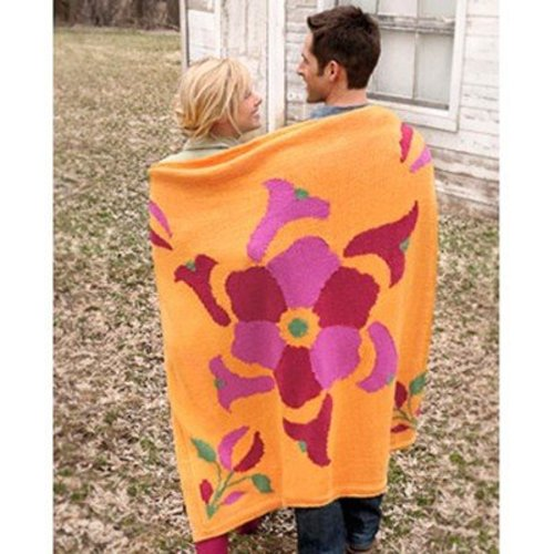 Spud & Chloe by Blue Sky Fibers 9512 Flower Power Throw - Download (9512PDF)