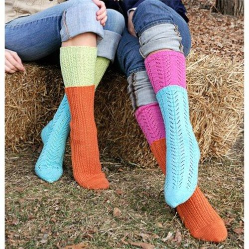 Spud & Chloe by Blue Sky Fibers 9806 Two-For-One Socks - Download (9806PDF)