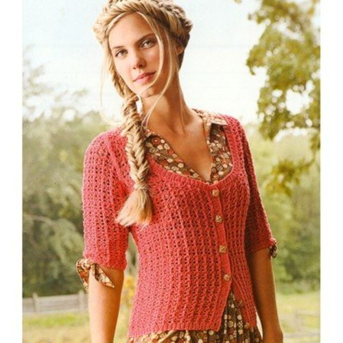 Spud & Chloe by Blue Sky Fibers 9809 Valentine Cardi - Download (9809PDF)